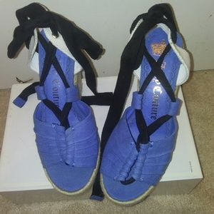 Authentic Juicy Couture blue Wedges